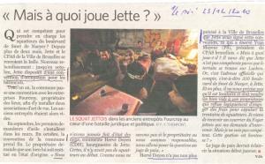 """Article du Soir de ce 23/12/2010 - """"Mais à quoi joue Jette ?"""""""