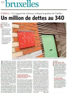 Article du journal Le Soir du 2 février 2011 - Atelier 340