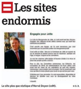 """""""Le site plus que statique d'Hervé Doyen"""", dans La Capitale, 9/11/11"""