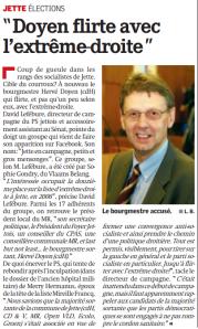 La Capitale 28032012 - Hervé Doyen flirte avec l'Extrême Droite